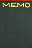Memo blackboard. Blackboard with the notice MEMO Royalty Free Stock Image