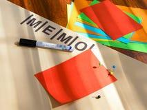 Memo board Stock Photo