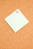 Memo board with empty note on white background. Memo board with empty note on a white background stock image