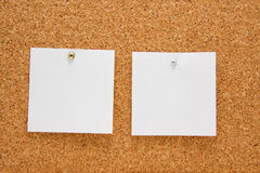 Memo board with empty post-it Stock Images