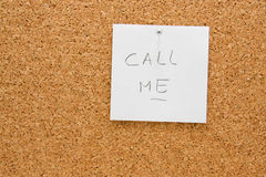 Memo board with message Stock Photography