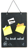 Memo board school Stock Image