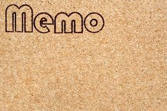 Memo Corkboard Stock Photo