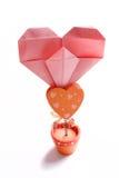 memo för gemhjärtahållare royaltyfri foto