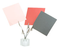 Memo holder. With papers for notes Stock Image