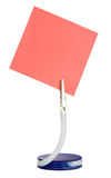 Memo holder. Holder with red sheet of paper Stock Photos