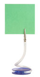 Memo holder. With blank green paper Royalty Free Stock Photography