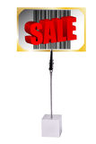 Memo Holder with Sale bar code barcode card Stock Photo