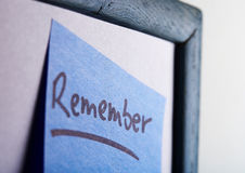 memo - idea board Stock Images