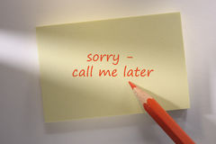 Memo note Royalty Free Stock Photography