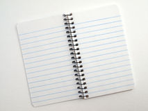 Memo note book open 2 Stock Image