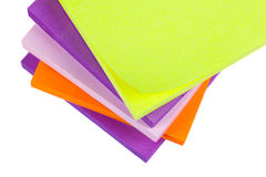 Memo Note on Stack of Postits. Memo Note on Stack on a white background close up Stock Photography