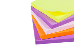 Memo Note on Stack of Postits Stock Photos