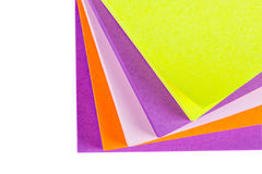 Memo Note on Stack of Postits Stock Image