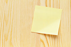 Memo note wooden plank Stock Image