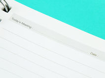 Memo notebook paper Royalty Free Stock Photography