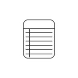 Memo Notepad thin line icon, outline vector logo illustration, l. Inear pictogram isolated on white Stock Photo