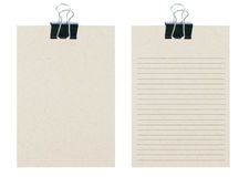 Memo Notes From Recycle Paper With Black Paper Cli Stock Photo