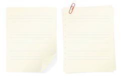 Memo notes isolated on white background Royalty Free Stock Image
