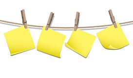 Memo notes with pegs Stock Photos