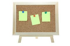 Memo notice cork board Royalty Free Stock Photos