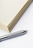 Memo pad and pen Royalty Free Stock Image
