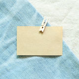 Memo paper on blue jeans background. Memo paper on blue jeans Royalty Free Stock Image