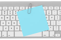 Memo Paper and Keyboard Royalty Free Stock Photo