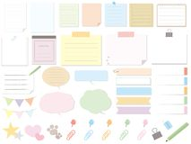 Memo paper stock illustration