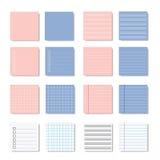 Memo paper note variation  design. Memo paper note set variation  design pastel color Stock Images