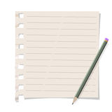 Memo paper with pencil Royalty Free Stock Photography