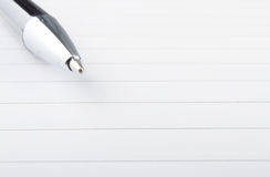 Memo and pen Stock Photo