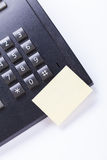 Memo post it message on telefone in office Stock Photo
