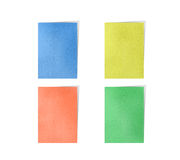 Memo post note colorful. By cork board Stock Images