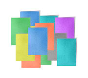 Memo post note colorful. By cork board Stock Image