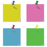 Memo Reminders Blanks. Four Coloured Memo Reminders Blanks individually layered Stock Illustration