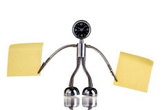 Memo robot Stock Photo