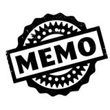 Memo rubber stamp. Grunge design with dust scratches. Effects can be easily removed for a clean, crisp look. Color is easily changed Stock Image