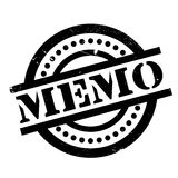 Memo rubber stamp. Grunge design with dust scratches. Effects can be easily removed for a clean, crisp look. Color is easily changed Stock Photo