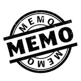 Memo rubber stamp. Grunge design with dust scratches. Effects can be easily removed for a clean, crisp look. Color is easily changed Stock Photos