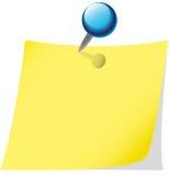 Memo sheet. The memo sheet with blue pin Stock Photography
