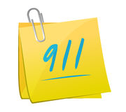 911 memo sign concept illustration. Design over white Royalty Free Stock Photography