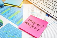 Stick with word market analysis. Royalty Free Stock Photography