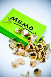 Memo with tacks Stock Photography