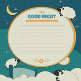 Memo template sheep Royalty Free Stock Image