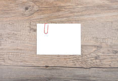 Memo on wood Stock Photo