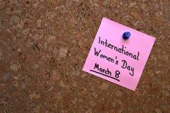 Memo: World Women's Day Stock Photo