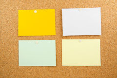 Memobord with empty colored post-it Stock Photography