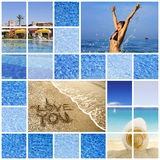 Memoirs about summertime. Sea, sun, water Royalty Free Stock Photography
