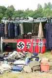 Memorabilia. World War 2 memorabilia for sale at a military vehicle show Stock Photography